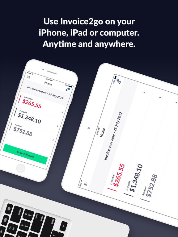 invoice 2go professional invoices and estimates on the app store