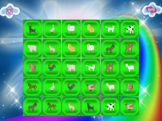 Animals In The Farm Memory Match screenshot 10