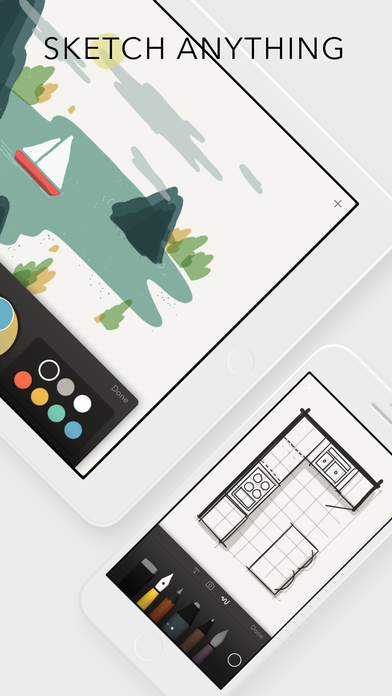 Screenshots of Paper by FiftyThree - Sketch, Diagram, Take Notes for iPhone
