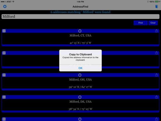 AddressFind - Find full address using partial Screenshots