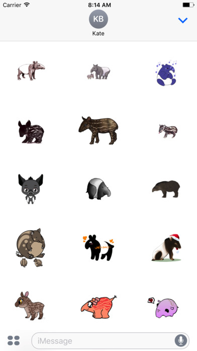 Tapirs Stickers Screenshot 1