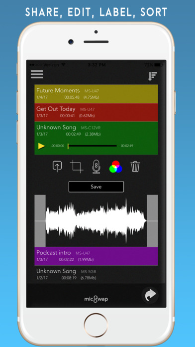 MicSwap: Microphone Emulator & Recorder Screenshots