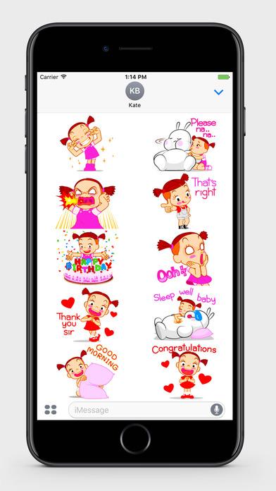 Kids: Little Girl 2 Stickers screenshot 4
