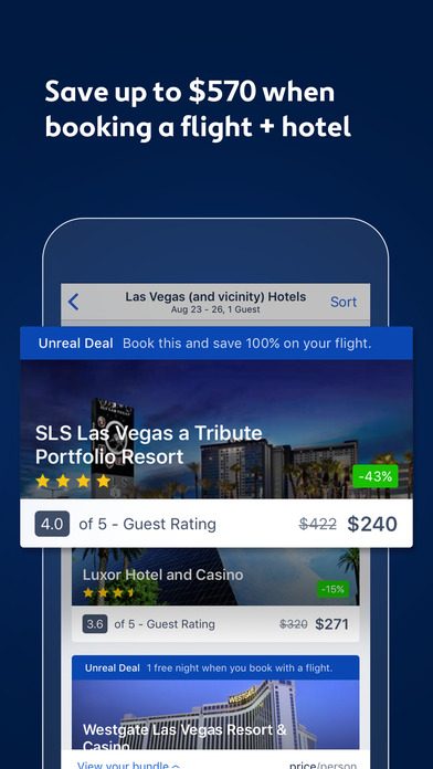 Expedia Hotels, Flights & Vacation Package Deals screenshot
