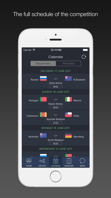 Russia 2017 Pro / Scores for Confederations Cup Screenshot