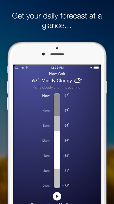 Weather Tunes -Free weather based music & forecast Screenshot