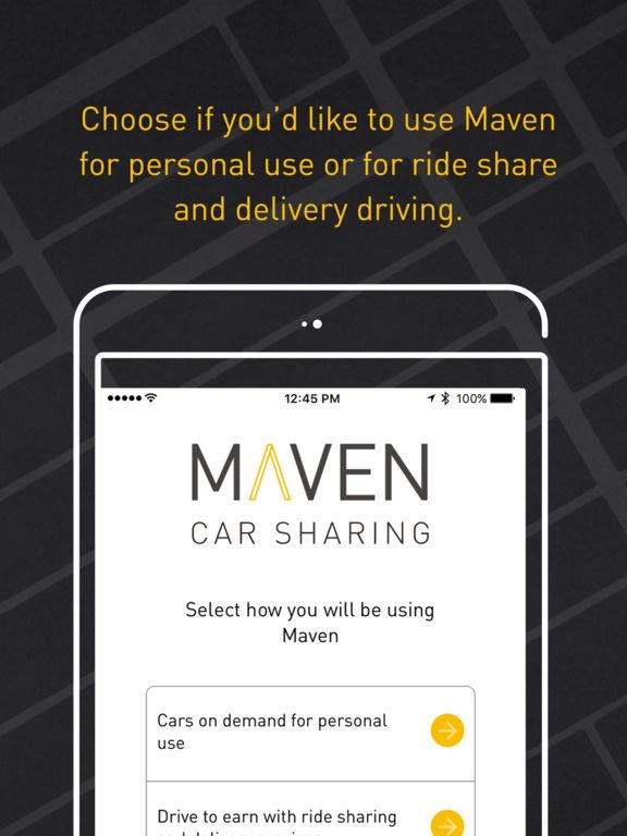 maven car sharing on the app store. Black Bedroom Furniture Sets. Home Design Ideas
