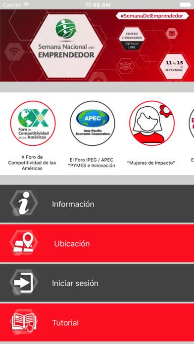 Semana Nacional del Emprendedor 2017 screenshot