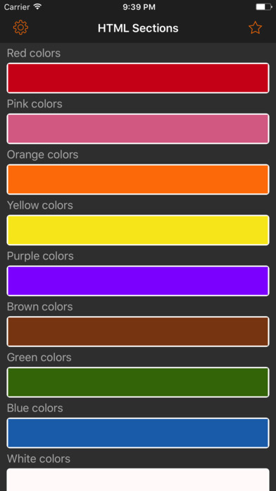 HTML Color codes. WEB Palette screenshot 1