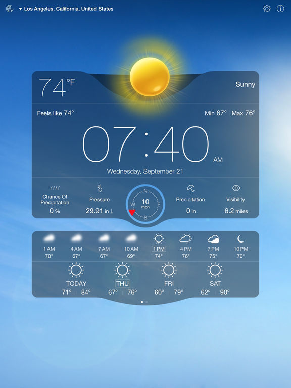 Screenshot #3 for Weather Live - Weather Forecast & Alerts
