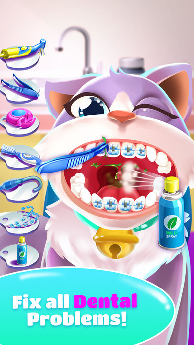 Pet Dentist Doctor Game! screenshot 2