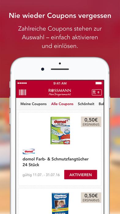 Rossmann coupons online einlosen