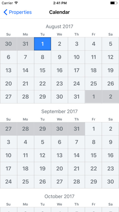 Calendar Lebanon : Builder calendar app report on mobile action