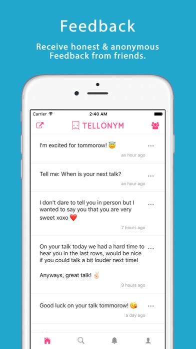 Tellonym screenshot 1