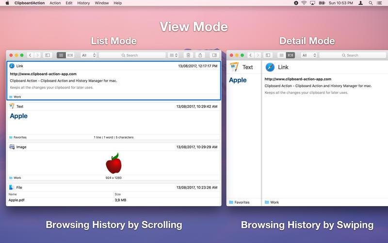 Clipboard Action for Mac 1.3.1 激活版 – 智能剪贴板历史管理器-爱情守望者