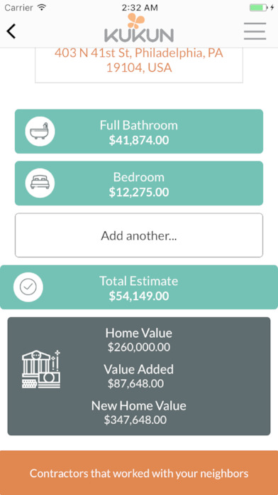 kukun home remodel costs amp roi on the app store kukun home remodel costs amp roi on the app store