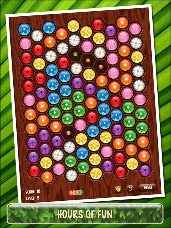 Screenshot #1 for Flower Board HD - A relaxing puzzle game