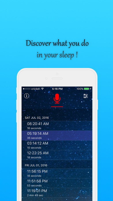 Sleep talk and snore recorder Screenshots