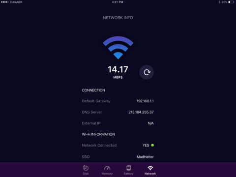 MONSTER WiFi Network Analyzer - Speed Test Your Internet & Ping IP