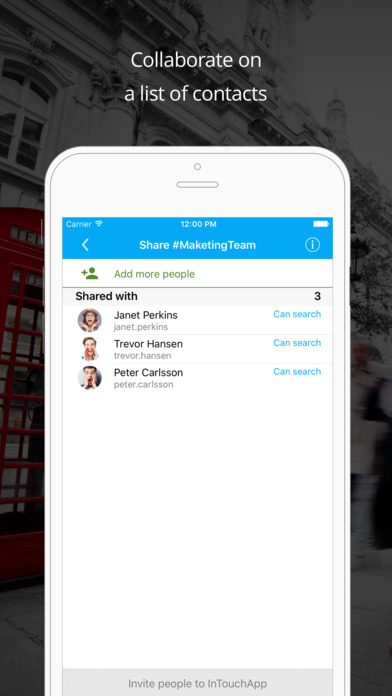 InTouchApp Contacts Manager - Backup, Sync and Transfer screenshot