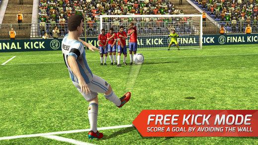 Final Kick VR - Virtual Reality free soccer game for Google Cardboard Screenshot