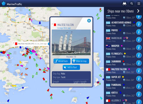 MarineTraffic - Ship Tracking Screenshots