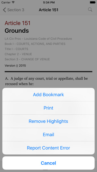 Louisiana Code of Civil Procedure (LA Law) iPhone Screenshot 3