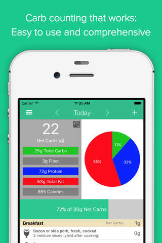 Carb Manager: Keto Diet App screenshot 1
