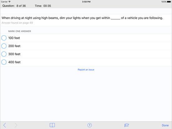 DMV Test Prep - Texas iPad Screenshot 3