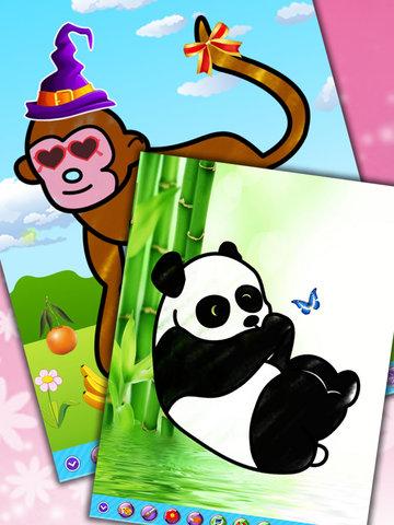 儿童画画填色涂鸦:动物(免费) - 快乐的着色书
