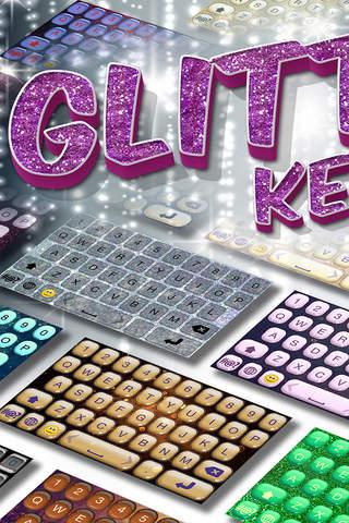 Glitter Keyboard Maker – Free Custom Keyboard Skins with Fancy Fonts and Color Backgrounds screenshot 1