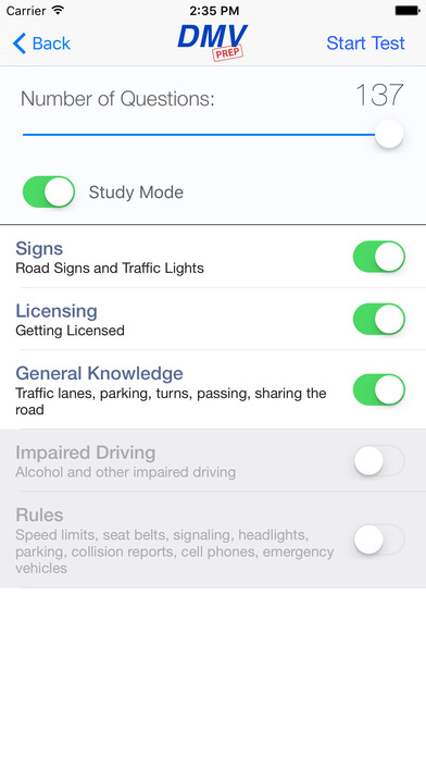 DMV Test Prep - Alaska iPhone Screenshot 2