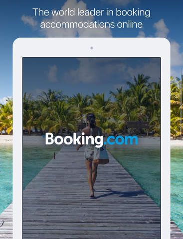 Screenshots of Booking.com for iPad