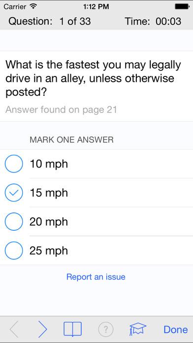 DMV Test Prep - Illinois iPhone Screenshot 3