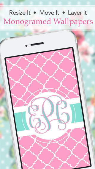 Stencil - Monogram Wallpaper Backgrounds Fashion Skins Themes Screenshots