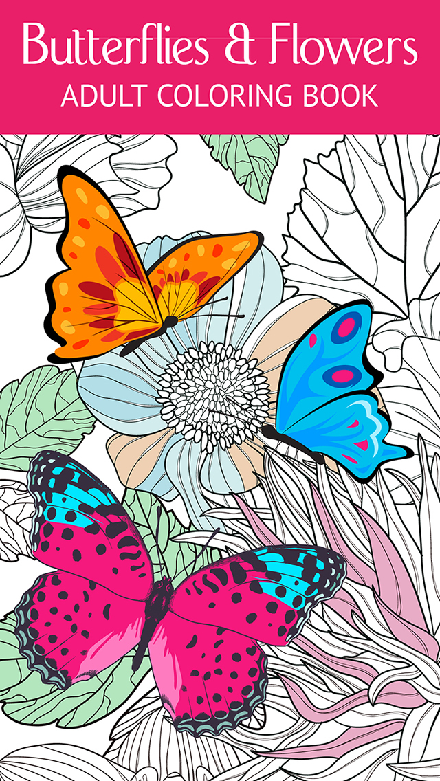 Butterfly & Flower Art Therapy: Free Fun Coloring Games ...