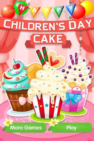 Childen's Day Cake - Ice Cream Making Recipe,Kids Games screenshot 1