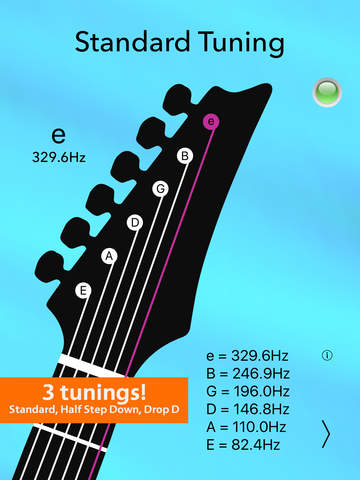 Guitar Tuner Lite - Tune your electric guitar with precision and ease! Screenshots