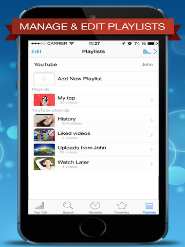 Music Player Free for YouTube - Playlist Manager Screenshots