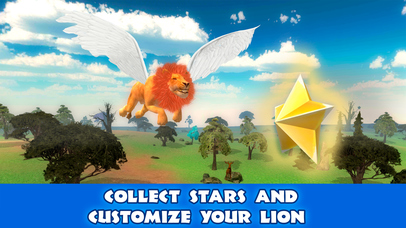 Wild Flying Lion Simulator 3D Full screenshot 4