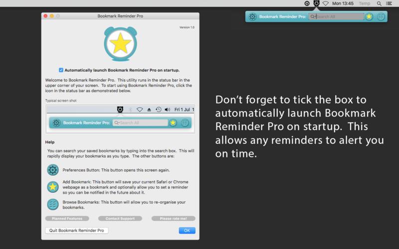 Bookmark Reminder Pro Screenshot - 5