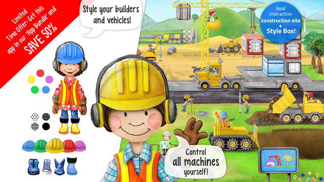 Tiny Builders - Action Construction Site for Kids! Screenshots