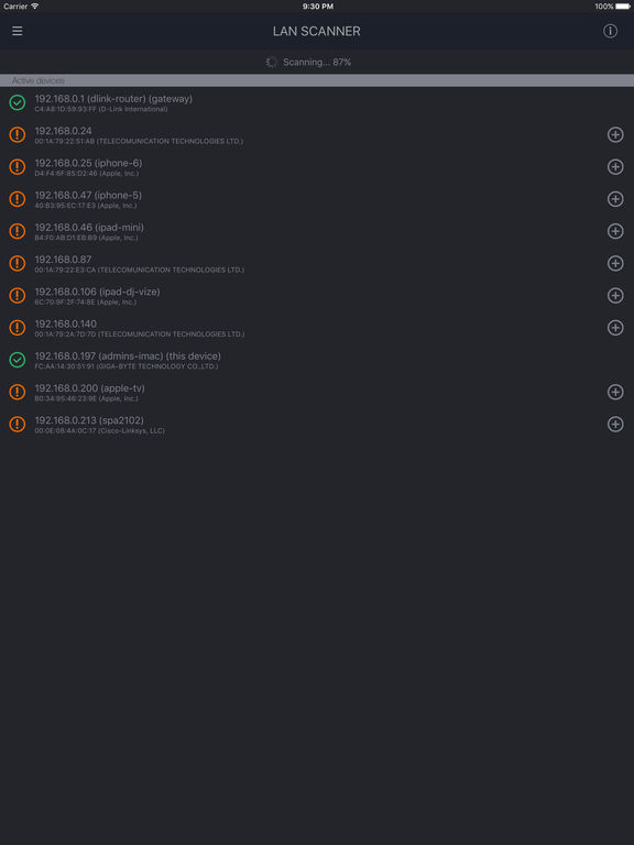 WiFi Speed Test Screenshots