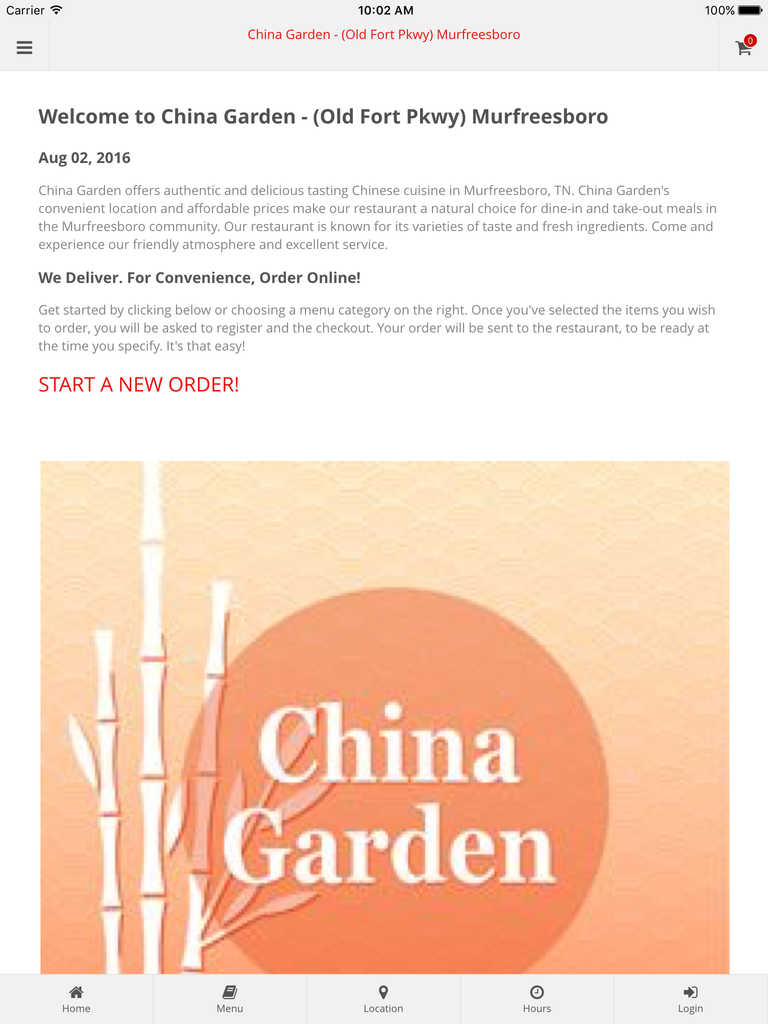 App Shopper China Garden Murfreesboro Online Ordering Food Drink