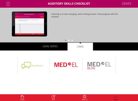 auditory skills checklist by med el elektromedizinische geraete gmbh. Black Bedroom Furniture Sets. Home Design Ideas