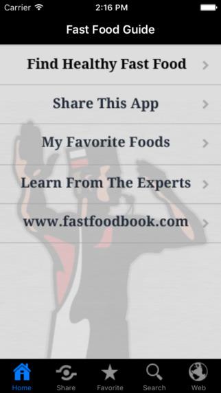 Stop & Go Fast Food Guide iPhone Screenshot 1