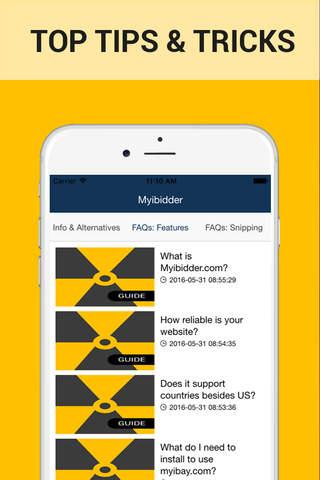Guide for Myibidder Auction Bid Sniper - Ebay Pps screen