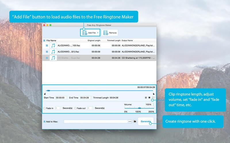 Free Any Ringtone Maker Screenshot - 1