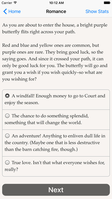 Choice of Romance iPhone Screenshot 2