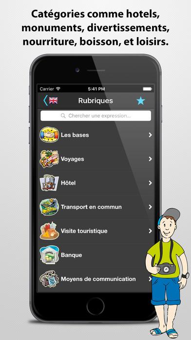 Le traducteur de voyage iPhone Screenshot 3